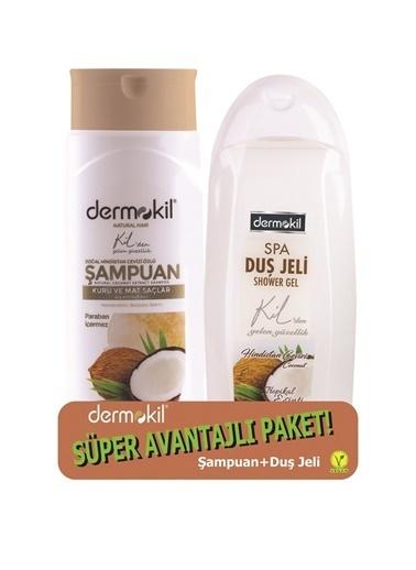 Dermokil Dermokil Hindistan Cevizi Şampuan 400 ml + Hindistan Cevizi Duş Jeli 500 ml-2'li Avantajlı Set Renksiz